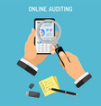 online auditing tax process accounting concept vector image