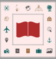 open book icon elements for your design vector image
