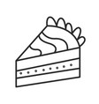 piece of cake doodle hand drawn line vector image vector image