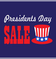 presidents day sale typography graphic vector image