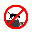 Prohibition sign for dogs vector image vector image