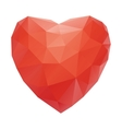 red heart abstract isolated on a white backgrounds vector image