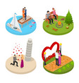 romantic relationship signs 3d icons set isometric vector image vector image