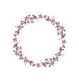 Round Christmas garland with euphorbia pulcherrima vector image