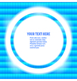 round frame your message bright blue mosaic vector image vector image