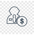 salary concept linear icon isolated on vector image