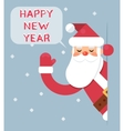 Santa Looking Out Corner Cartoon Character Happy vector image vector image