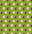 seamless texture with colorful cats and skulls vector image vector image