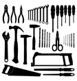 Set icons of tools on a white background vector image