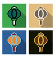 set of chinese lamp hanging icon in symbolic vector image