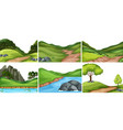 set of nature background vector image vector image
