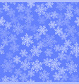 show flakes seamless pattern winter texture vector image vector image