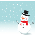 Smiling Snowman vector image vector image
