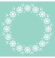 snowflakes Christmas winter round frame design vector image vector image
