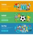 Soccer Banner Set vector image vector image