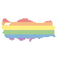 spectrum dotted lgbt turkey map vector image