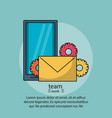 teamwork poster with information vector image vector image