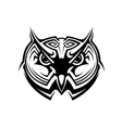 Tribal owl tattoo vector image