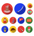 turkey country flat icons in set collection for vector image