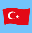 turkey national flag - al bayrak - flying vector image