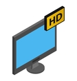 TV HD isometric 3d icon vector image vector image