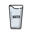 vintage glass of water vector image vector image