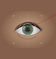 vision correction by a laser beam vector image vector image