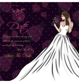 wedding invitation card suite with bride and vector image vector image