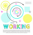 working gear with arrows set vector image vector image