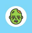 zombie icon sign symbol vector image vector image