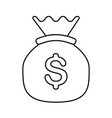 money bag icon image vector image