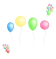 Color glossy balloons isolated on white background vector image