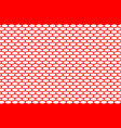 abstract pattern red net on white vector image vector image