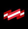 austria flag ribbon isolated austrian banner tape vector image vector image