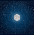 background starry night sky star moon vector image vector image