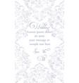 baroque ornamented card victorian royal vector image