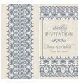 Baroque wedding invitation dark blue vector image vector image