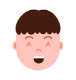 boy head emoji personage icon with facial emotions vector image vector image