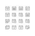 calendar thin line icon minimal vector image vector image