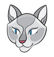 cartoon cat head vector image vector image