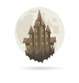 Castle with a moon isolated vector image vector image