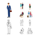 character and avatar sign vector image vector image