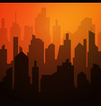 daytime cityscape night city skyline landscape vector image