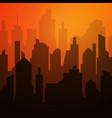 daytime cityscape night city skyline landscape vector image vector image