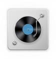 detailed icon retro vinil record player vector image vector image
