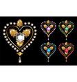 Diamond hearts love vector image