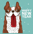 dog stuck out his big red tongue vector image vector image