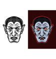 dracula vampire two styles vector image vector image