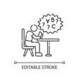 dyslexia linear icon vector image