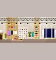 fashion shop interior clothes store banner vector image vector image
